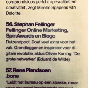 Fellinger in Tijdschrift voor Marketing